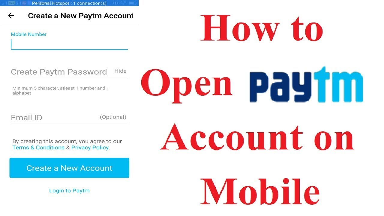 How to Open PayTM Account on Mobile Phone