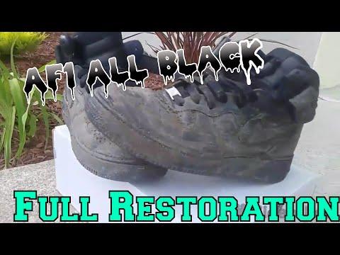 All Black Af1 Restoration