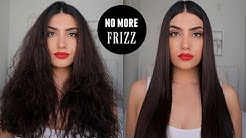 HOW TO STRAIGHTEN AND CURL FRIZZY HAIR
