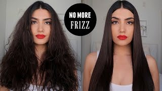 HOW TO STRAIGHTEN AΝD CURL FRIZZY HAIR