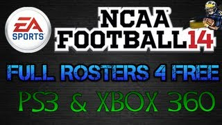 NCAA Football 14 Rosters: Full Rosters 4 Free (PS3 & Xbox360)