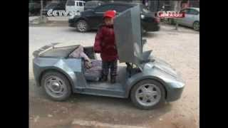 Chinese farmer builds mini duplicate of Lamborghini