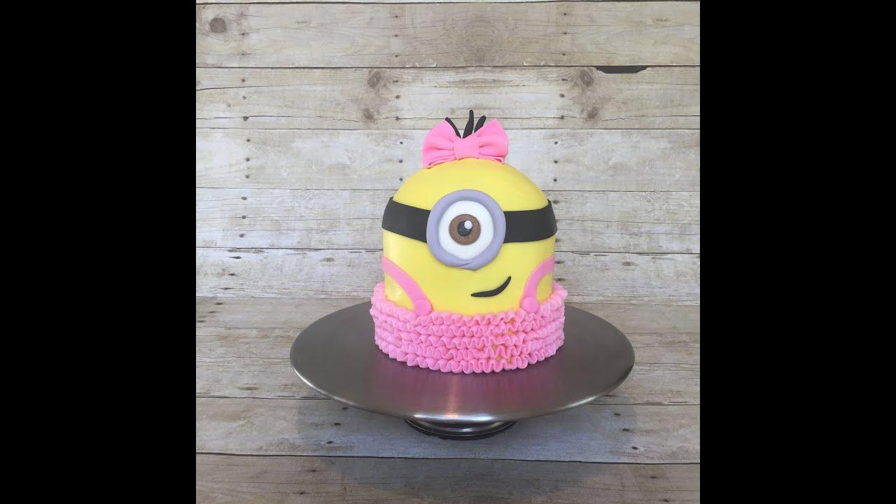 Girl Minion Cake Easy