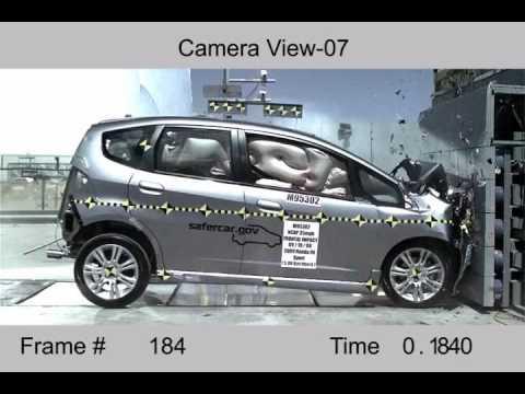Crash Test 2009 Honda Fit Aria Jazz Full Frontal Nhtsa Youtube