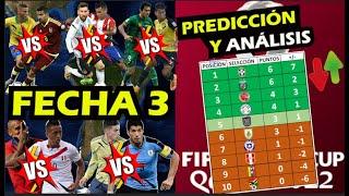 ANÁLISIS y PREDICCIÓN Fecha 3 Eliminatorias CONMEBOL QATAR 2022