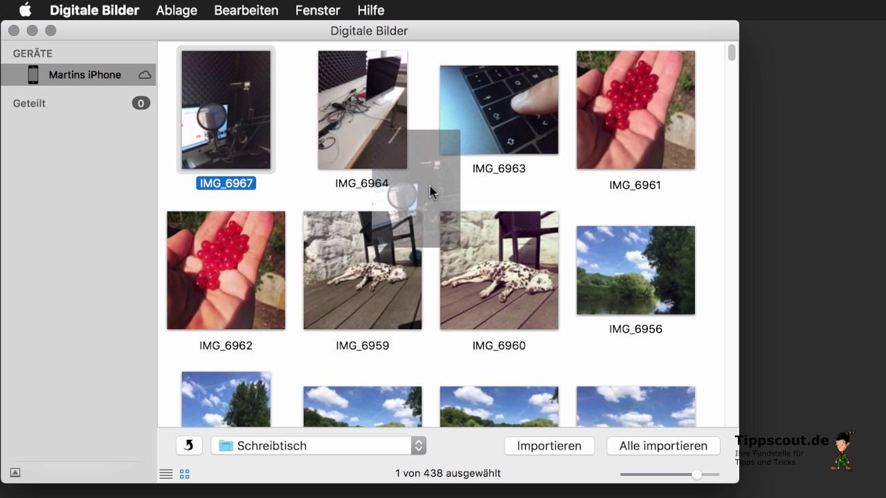 Bilder Vom Iphone Auf Den Mac Kopieren Ohne Fotos App Youtube