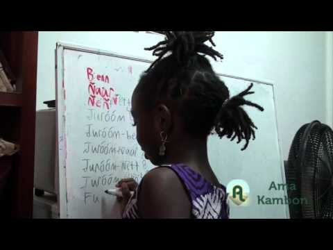 Ama Kambon Addition and Multiplication using Wolof Numerals (Base 5 & Base 10 mix)