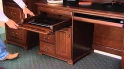 Bridgeton Office Desk & Hutch