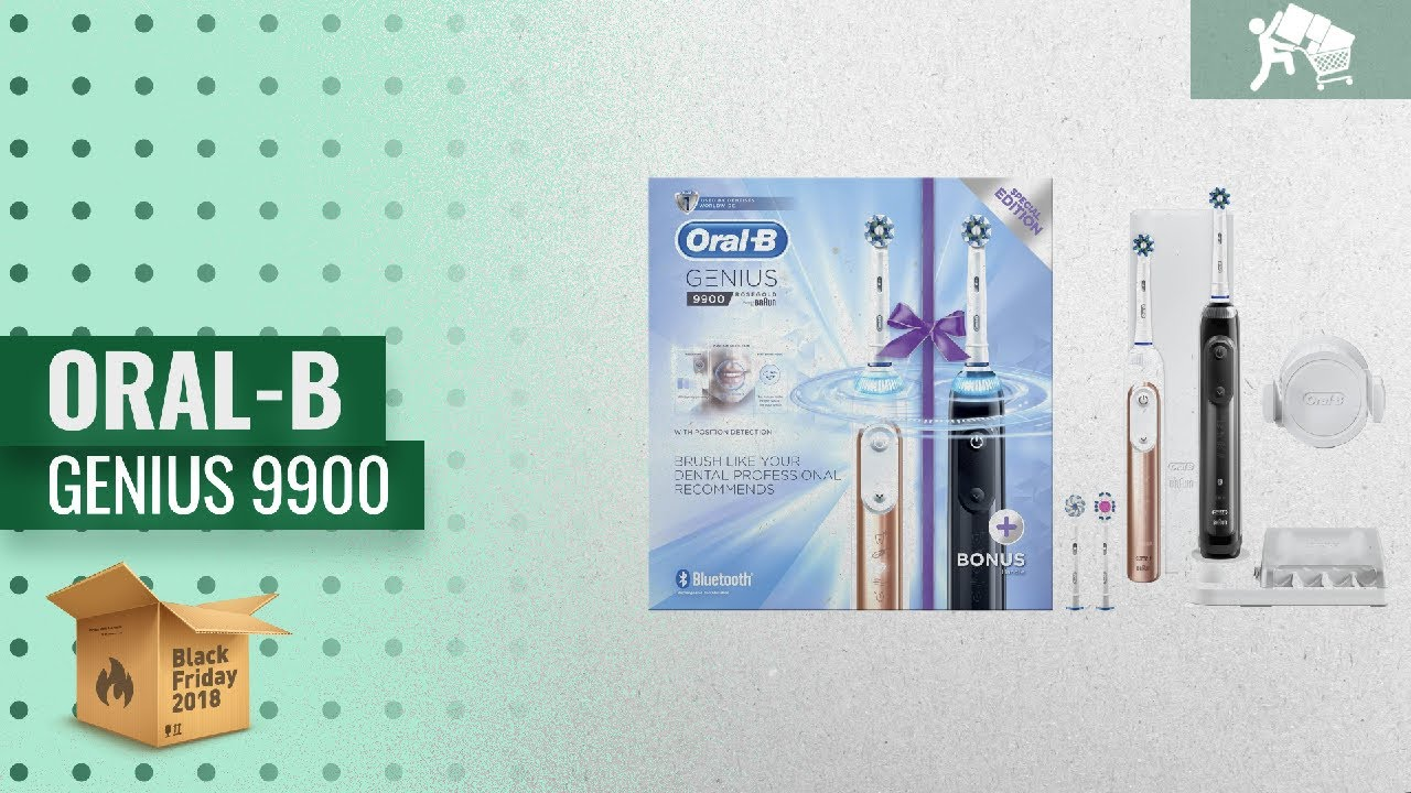 8809746af52764 Oral-B Genius 9900 Twin Handle Pack Electric Toothbrush Black Friday ...