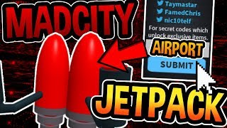 MAD CITY JETPACK LOCATION AND AIRPORT! (INSANE) -Roblox