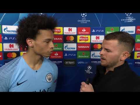 Leroy Sane im DAZN Interview nach Manchester City vs Schalke 04
