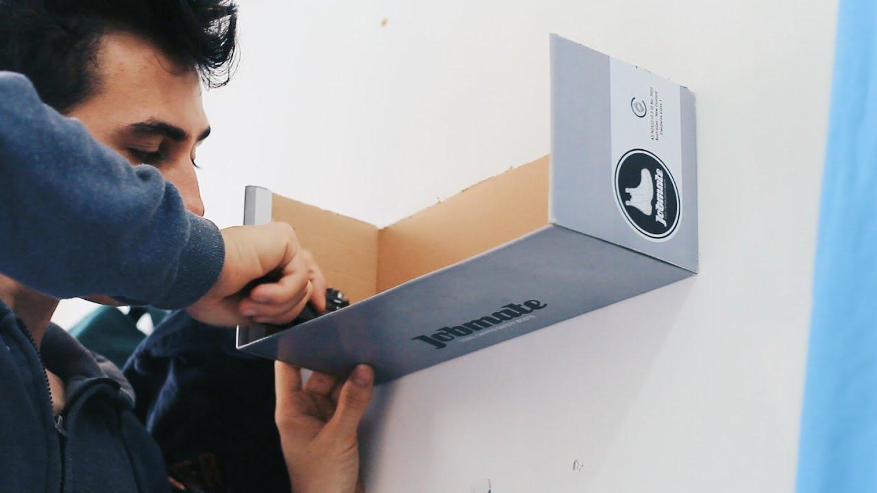 shoebox shelf custom build diy - youtube