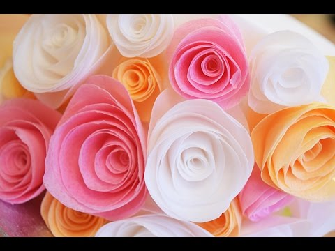 Simple wafer paper flowers youtube simple wafer paper flowers mightylinksfo