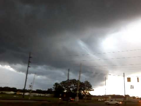 Storm moving in to waycross georgia