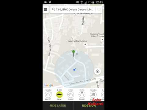 Learn to use OLA CABS app