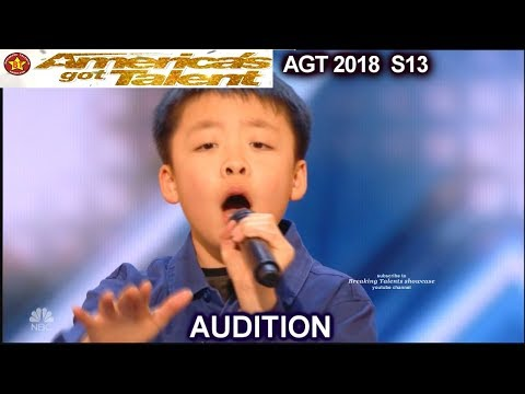 "Jeffrey Li 13 years old sings ""Raise Me Up"" Simon Will Give Him a DOG America's Got Talent 2018  AGT"