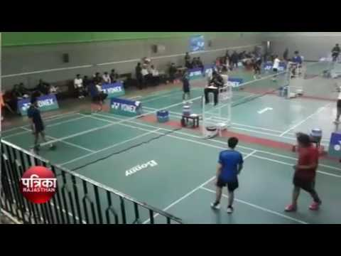 Jaipur district badminton association championship tournament final match in sms