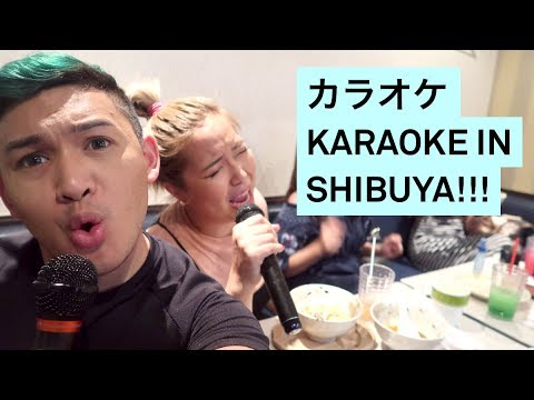KARAOKE IN SHIBUYA!  カラオケ - RomeAroundTheWorld Asia 2017 Day 9