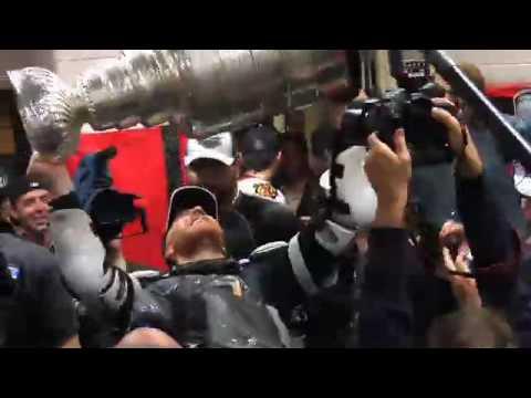 NHL: 2010 Stanley Cup in Chicago Blackhawk Locker Room Celebration