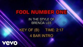Brenda Lee - Fool Number One (Karaoke)
