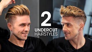2 QUICK & EĄSY Undercut Hairstyles For Men   Men's Hair Tutorial