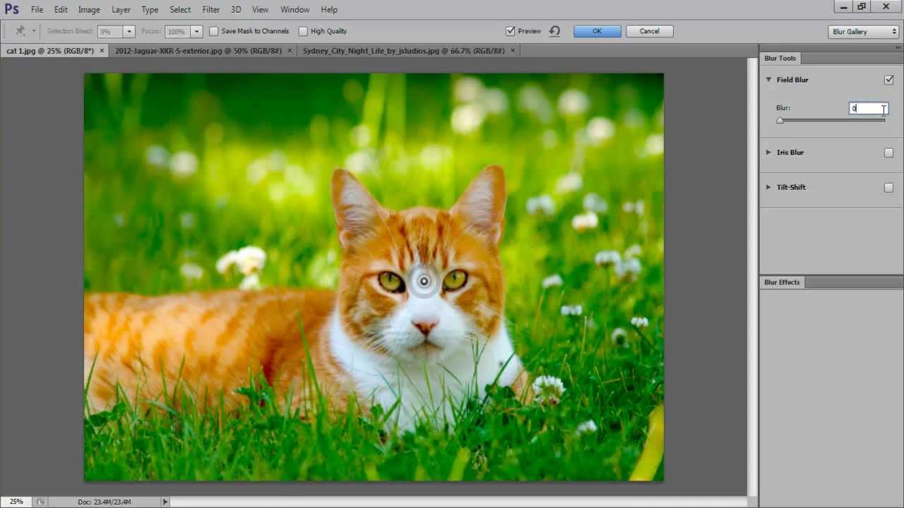 Tilt-shift photography photoshop tutorial   miniature faking.