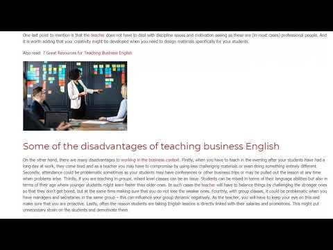 5 Advantages And Disadvantages Of Teaching Business English | ITTT TEFL BLOG