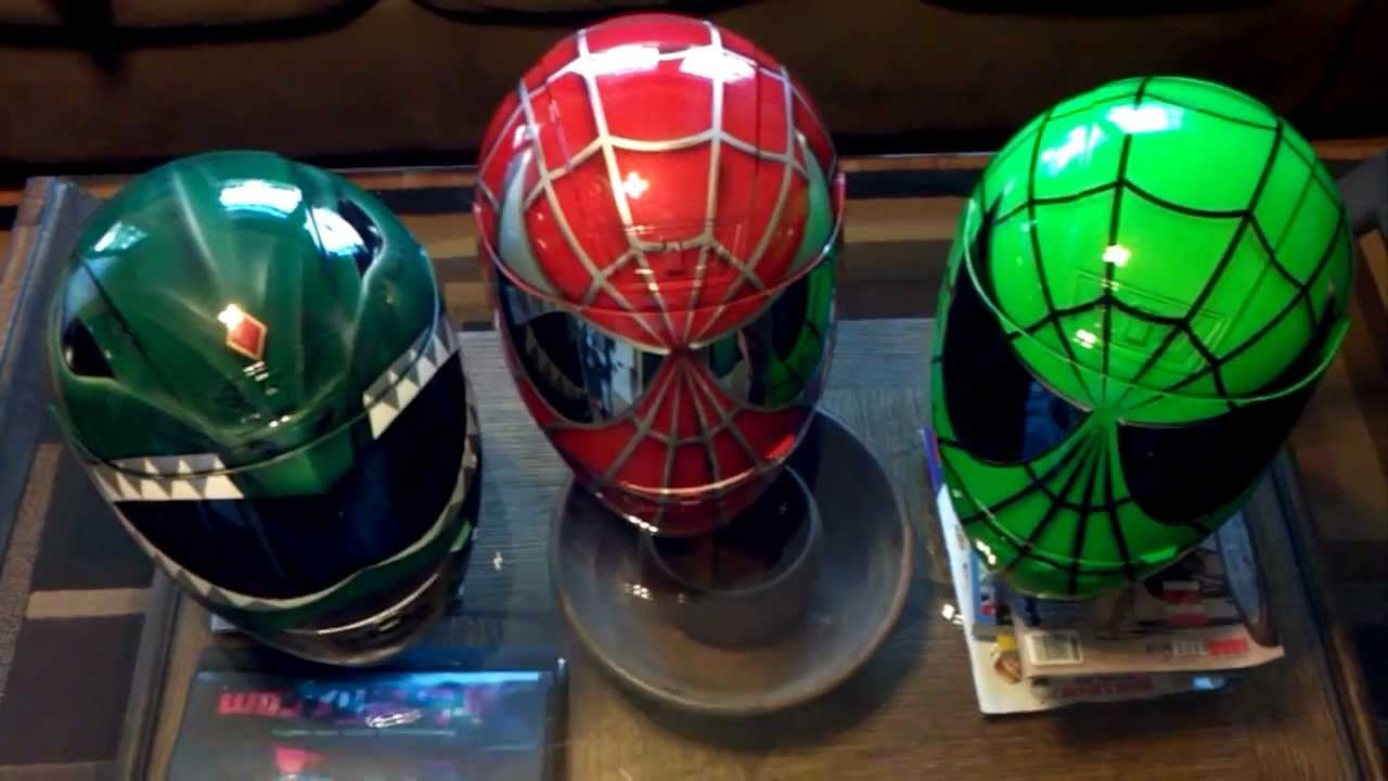 Green Ranger Red And Green Spiderman Aibrushed Helmet