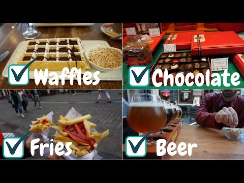 BRUSSELS, Belgium ll Waffles, Chocolate, Fries & Beer