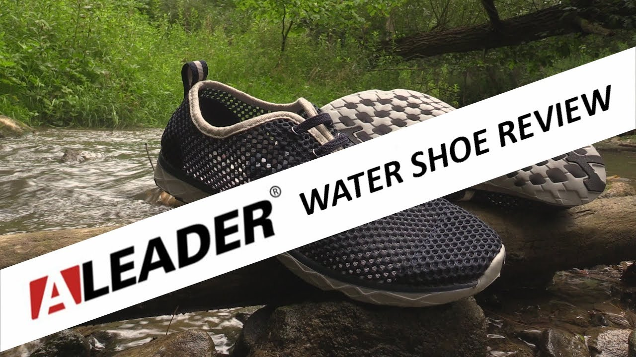 c606fcbfd8e10 Water Shoe Review ALEADER - YouTube