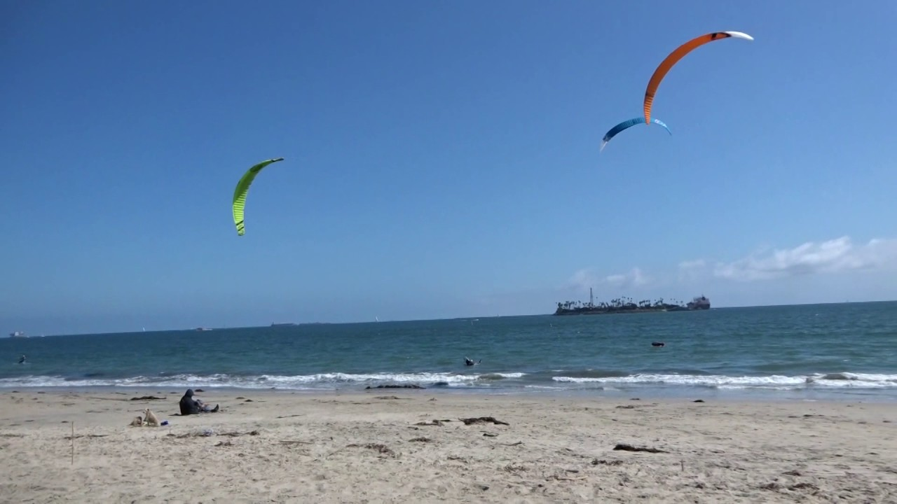 Long Beach Kite Surfing Today