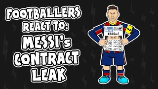 Footballers REACT to Messi's LEAKED contract!