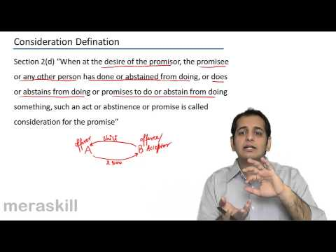Consideration Definition-CA CPT LAW-Indian Contract Act 1872