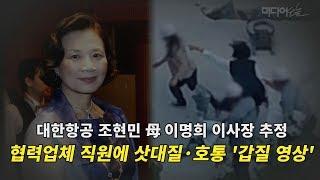 대한항공 조현민 母 이명희 이사장 추정 삿대질·호통 '갑질 영상'