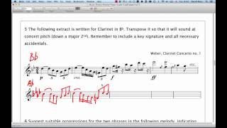 ABRSM Music Theory Grade 5 | Question 5 | Transposition