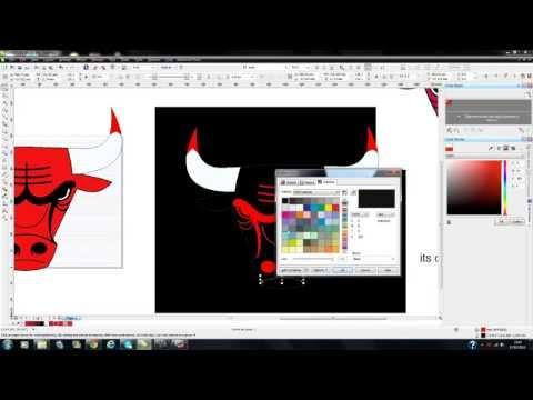 Using Corel Draw designing Chicago bulls logo
