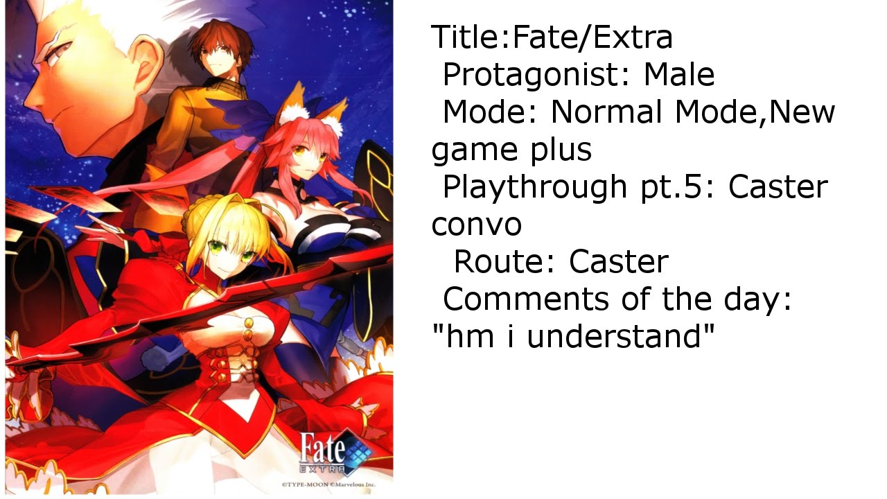 Fateextra Ng Pt5 Caster Week 1 Day 4 Youtube