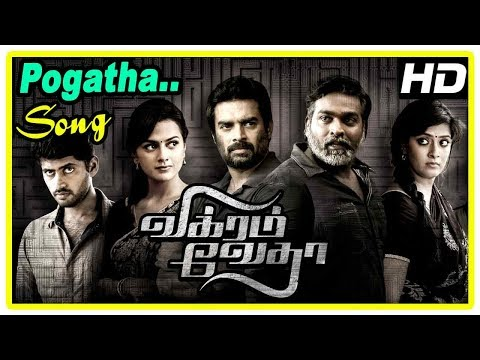 Vikram Vedha Movie Scenes | Pogatha Song | Vijay Sethupathi Escapes From Madhavan | Shraddha