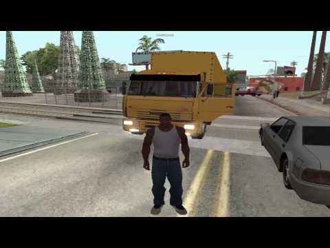 GTA San Andreas. Top gear. (КАМАЗ)
