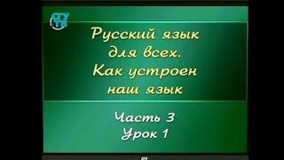 Русский язык для детей. Урок 3.1. Правила произношения