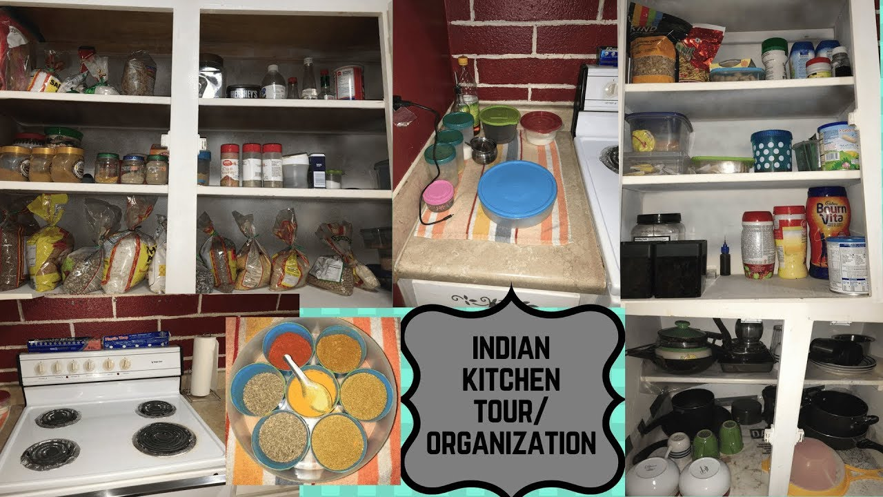 Indian Kitchen Organization Ideas Kitchen Tour Youtube