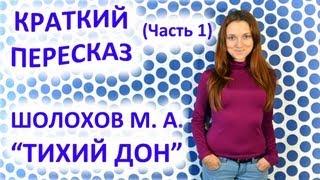 Пересказ Шолохов М. А. «Тихий Дон» Часть 1
