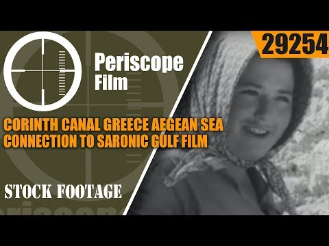 CORINTH CANAL GREECE  AEGEAN SEA CONNECTION TO SARONIC GULF  FILM 29254