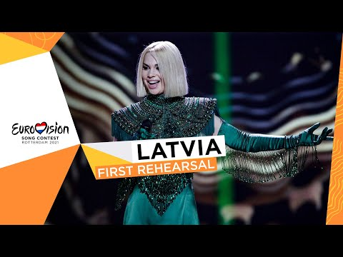 Samanta T?na - The Moon Is Rising - First Rehearsal - Latvia ?? - Eurovision 2021