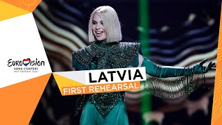 Samanta Tīna - The Moon Is Rising - First Rehearsal - Latvia 🇱🇻 - Eurovision 2021