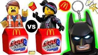 THE LEGO MOVIE 2 HAPPY MEAL GAME - Emmet vs Lucy  McDonalds Surprise Toys Game