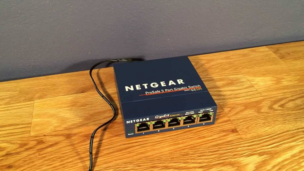 Netgear Prosafe Gigabit Switch Gs105 Youtube