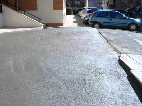 Impermeabilizacion acceso a garaje youtube - Rampas de garaje ...