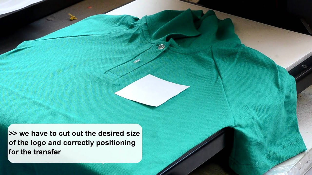 How To Screen Print Transfer On Polo Shirts Youtube