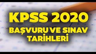 2020 KPSS Lisans başvuruları ne zaman? Ortaöğretim, Önlisans başvuru tarihleri